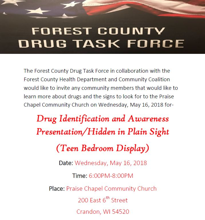 Drug Identification and Awareness Presentation – Community