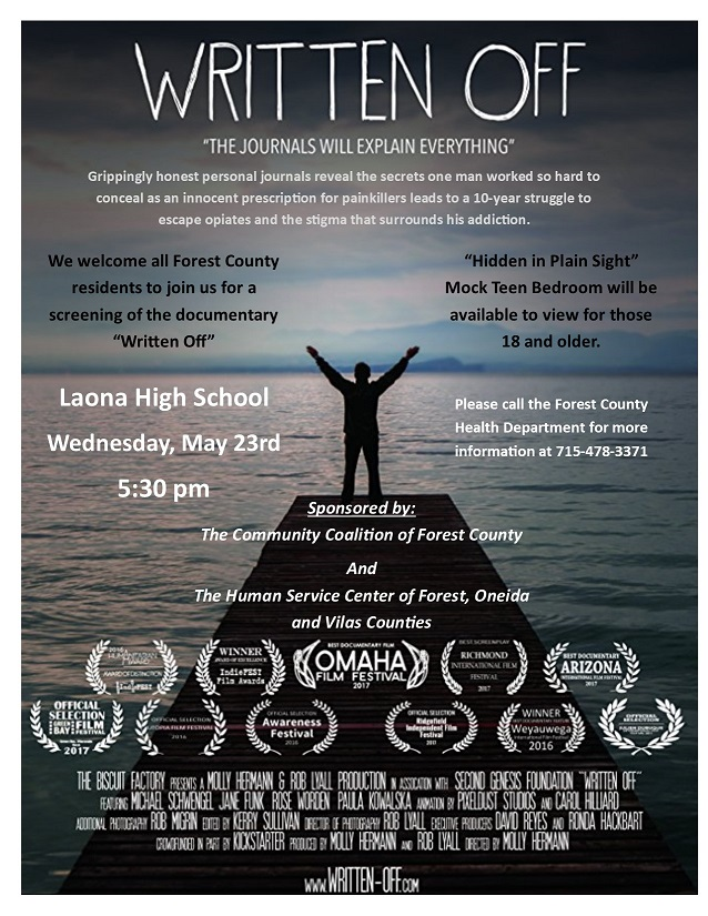 "Laona High School to offer screening of ""Written Off"""